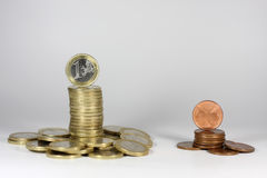 Money towers Stock Images