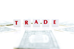 MONEY AND TRADE LETTER PIECES Royalty Free Stock Image