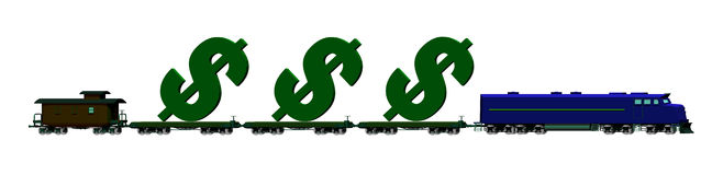 Money Train Stock Photography
