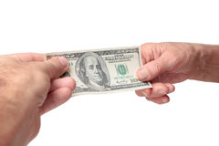 Money transaction Stock Photography