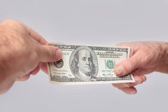 Money transaction Stock Photos