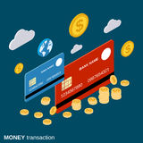 Money transaction, financial transfer, online banking vector concept Royalty Free Stock Photo