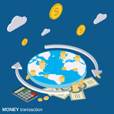 Money transaction, financial transfer vector concept Royalty Free Stock Images