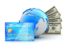Money transactions - concept illustration Royalty Free Stock Photos