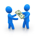 Money transfer royalty free illustration