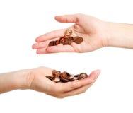 Money transfer Royalty Free Stock Photo