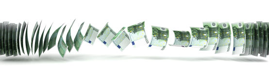 Money Transfer Royalty Free Stock Photography