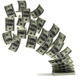 Money transfer 3d concept. On the white background Royalty Free Stock Image