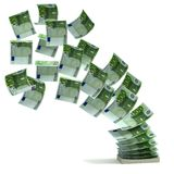 Money transfer 3d concept. On the white background Stock Photos
