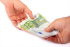 Money transfer Royalty Free Stock Photos