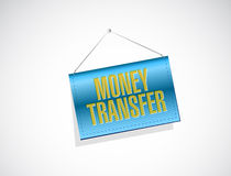 Money transfer banner sign illustration Stock Images