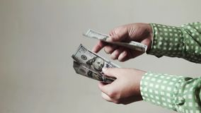 Money transfer business deal. HD stock footage