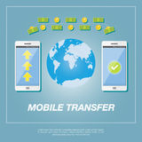 Money transfer  concept. Royalty Free Stock Image