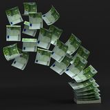 Money transfer 3d concept Royalty Free Stock Photography