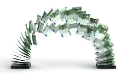 Money Transfer (Euro). Euro Transfer ( with clipping path royalty free illustration