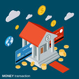 Money transfer, financial transaction, banking vector concept Stock Images