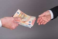 Money transfer Royalty Free Stock Images