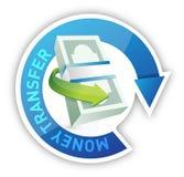 Money transfer illustration design Royalty Free Stock Image