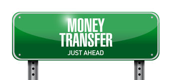 Money transfer road sign illustration design Royalty Free Stock Photography