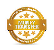 Money transfer seal illustration design Stock Photo