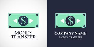 Money transfer vector icon, logo. Template design for business connected with web or bank money transfers Royalty Free Stock Photo