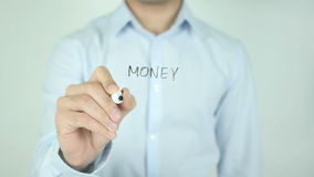 Money Transfer, Writing On Transparent Screen stock footage