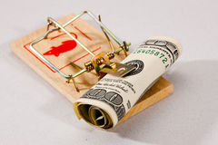 Money trap. Conceptual series: two money trap with dollar banknotes Stock Photo
