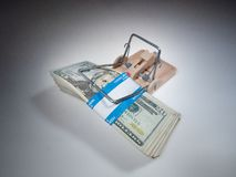 Money trap royalty free stock photography