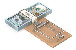 Money Trap with dollars Royalty Free Stock Photos