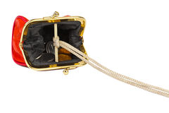 Money trap made of purse Royalty Free Stock Photos