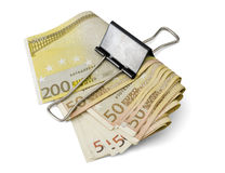 Money Trapped. Tightening up on your money. Euro banknotes Stock Photography