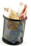 Money in the Trash Royalty Free Stock Photography