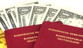 Money for travelling Stock Photography