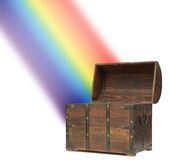 Money treasure chest rainbow Stock Image