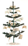 Money tree. Green Christmas tree decorated with banknotes Stock Photography