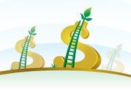 Money Tree. Saving Ladder Dollar Money Tree Royalty Free Stock Photo