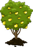 Money tree. On a white background, vector Stock Photo