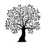 Money tree. Vector Illustration Royalty Free Stock Images