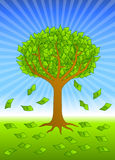 Money Tree. Loaded with dollar bills vector illustration
