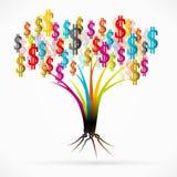 Money tree. Abstract vector illustration Royalty Free Stock Photography