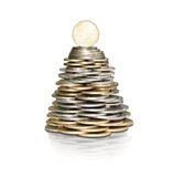 Money tree with coins Royalty Free Stock Image