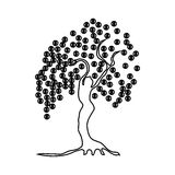 Money tree with coins icon, outline style Royalty Free Stock Image