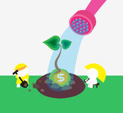 Money tree. Cropping a money tree together Stock Photography