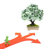 Money tree with euro banknotes Royalty Free Stock Photography