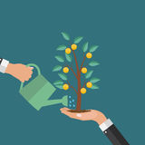 Money Tree, Financial Growth Flat Concept Vector Illustration. EPS10 Royalty Free Stock Photography