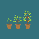 Money Tree, Financial Growth Flat Concept Vector Illustration. EPS10 Royalty Free Stock Images