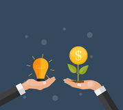 Money Tree, Financial Growth Flat Concept Vector Illustration. EPS10 Royalty Free Stock Image