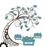 Money tree with gear Stock Photo