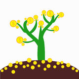 Money tree with ground Royalty Free Stock Images