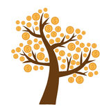Money tree. Tree with money growing on it Stock Image
